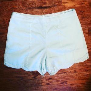 Pants - Scallop blue shorts
